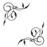 Swirl conner decoration,. Vector illustration Stock Image