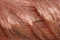 Swirl copper wire Royalty Free Stock Photos