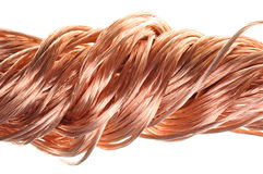 Swirl of copper wire Royalty Free Stock Photo