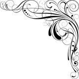 Swirl corner design. Swirl floral corner design in black Stock Photography