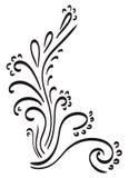 Swirl corner, doodles royalty free stock photos