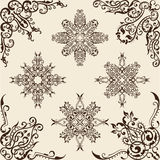 Swirl corner set Royalty Free Stock Images