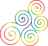Swirl design. Illustration of swirl design isolated on white background royalty free illustration