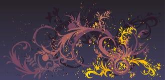 Swirl design. Elegant swirl design in lilac and yellow Stock Photography