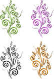 Swirl design. Brush stroke swirl designs with four colors Royalty Free Stock Photography