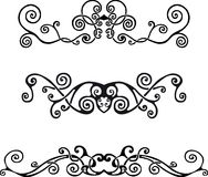 Swirl design elements. Abstract design elements for decor Royalty Free Illustration