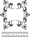 Swirl design frame and border Stock Images
