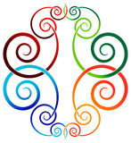 Swirl design. Isolated illustrated colorful swirl design Royalty Free Stock Photography