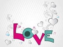 Swirl design with love background Stock Photos