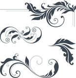 Swirl Design Set. Vector swirl ornate motifs. Use for wedding invitations, royal certificates, greeting cards, menus, programs, covers, posters, brochures and Stock Photos