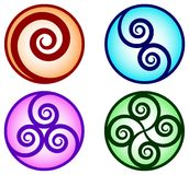 Swirl designs Stock Photography
