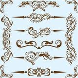 Swirl divide art set Royalty Free Stock Photo
