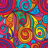 Swirl drop love seamless pattern. Illustration stylish drawing colorful swirl drop love seamless pattern graphic texture textile fabric element design Stock Images