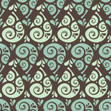Swirl drop seamless pattern background Royalty Free Stock Images