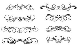 Swirl elements royalty free stock photos