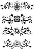 Swirl Elements. Swirl Collection Vintage isolated Vector Stock Photos