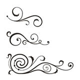 Swirl elements for design. Vector swirl elements for design Stock Photography