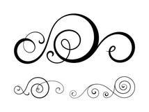Swirl elements for design. Stock Image