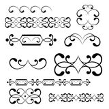 Swirl elements and monograms for design. Stock Photography