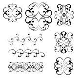 Swirl elements and monograms for design. Isolated on white background. vector illustration Stock Photos