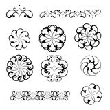 Swirl elements and monograms for design. Royalty Free Stock Photography