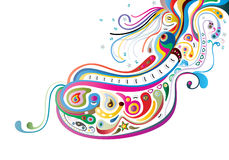 Swirl elements a vector image Stock Photos
