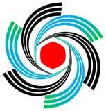 Swirl emblem Stock Image