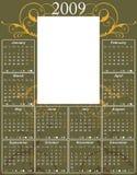swirl för 2009 kalender Royaltyfri Fotografi