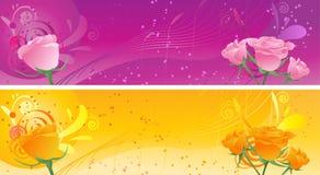 swirl för banerprydnadro Royaltyfri Bild