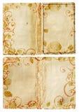 swirl för bokgrungesidor Royaltyfri Bild