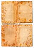 swirl för sidor för bokgrunge öppen Royaltyfria Bilder