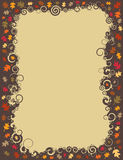 Swirl Fall Leaf Border. An autumn border made up of swirls and falling leaves vector illustration