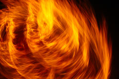 Swirl of Fire Stock Images