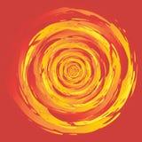Swirl Fire Circle vector illustration
