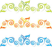 Swirl floral border Royalty Free Stock Images