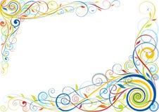 Swirl floral color design. Swirl floral colorful corner design Royalty Free Stock Images