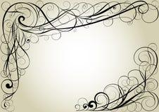 Swirl floral corner design. Swirl floral corner simple black frames design Royalty Free Stock Image