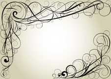 Swirl floral corner design Royalty Free Stock Image
