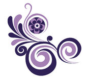 Swirl floral element. Vector  illustration of a decorative floral element Royalty Free Stock Photo