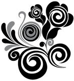 Swirl floral element Stock Photo
