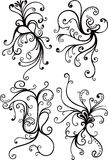 Swirl Floral Elements Stock Image