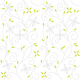 Swirl floral seamless pattern Stock Photos