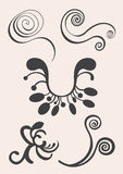 Swirl and floral vector elements in various styles for ornate and decoration Royalty Free Stock Photo