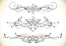 Swirl Floral Vintage Ornaments Decoration Vector. Illustration Royalty Free Stock Photos