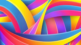 Bright abstract geometric background. Vector. Colorful colors of the rainbow. Distorted intersecting fluid lines. Creative concept vector illustration