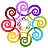 Swirl flower Stock Photo