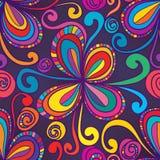 Swirl flower stylish swirl seamless pattern Royalty Free Stock Photo