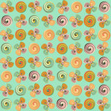 Swirl flowers - background. Abstract background with swirl flowers stock illustration
