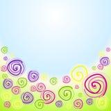 Swirl flowers invitation card