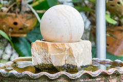 Swirl fountain,sacred object for house life and business Stock Photo